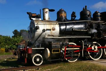Locomotive à vapeur.