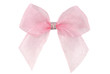 pink organza ribbon bow isolated