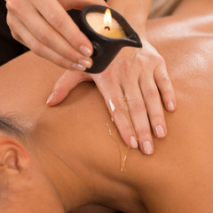 Candle Massage On Back