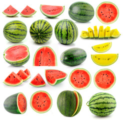 water melon isolated on white background