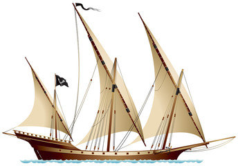 Pirate Ship Xebec