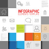 Vector abstract squares background infographic template