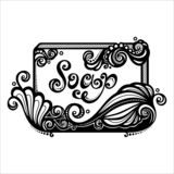 Vector Vintage Ornate Bar of Soap