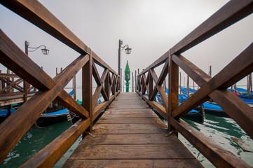 Pier in lagoon of  Venice