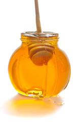 honey in glass pot