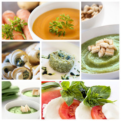 Vegetarian food collage