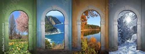 Vier Jahreszeiten -  Collage 4