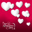 Valentines day hearts love greeting card