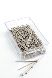Pins used in sewing and embroidery