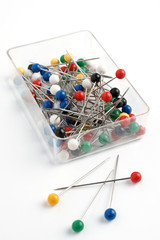 Plastic round head pins
