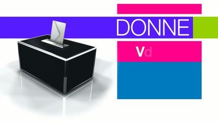 Donnez votre avis élections bulletin vote urne 3d animation