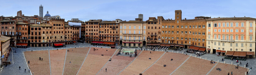 Piazza del Campo.Siena.BIg panorama.