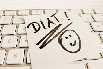 note on computer keyboard: diet