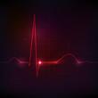 Human normal heart rhythm, beautiful bright design