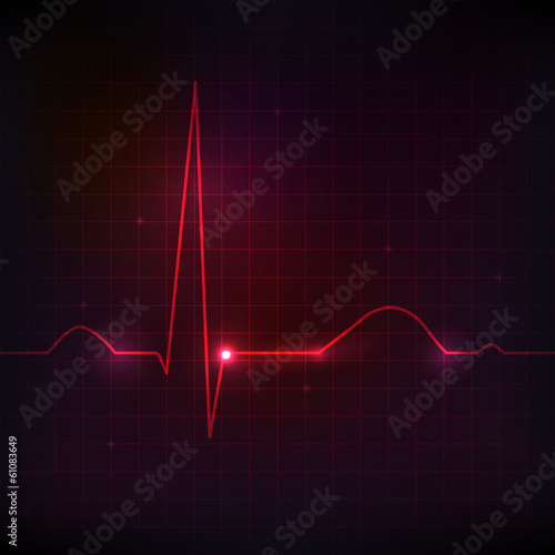 Human normal heart rhythm, beautiful bright design