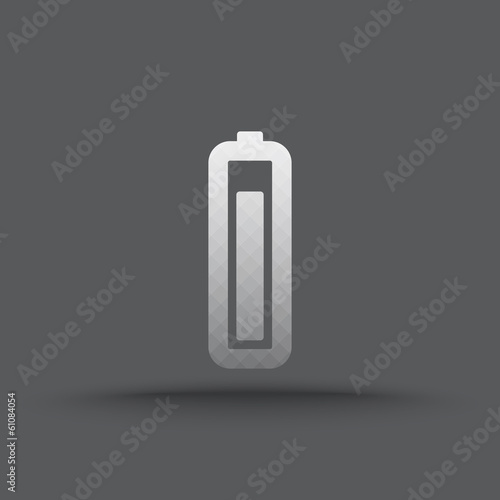 Vector of transparent battery icon on isolated background