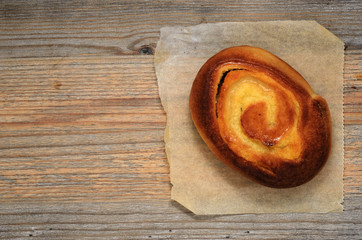 fresh bun dallas on wooden table