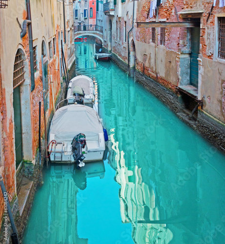canal with boats - 61084242