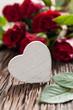 Rosen mit Herz und Textfreiraum
