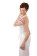 woman having a shoulder pain