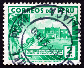 Postage stamp Peru 1938 Children's Holiday Center, Ancon