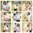 collage of pregnant