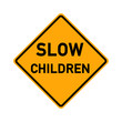 traffic sign - slow children - e495
