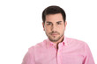 Portrait attraktiver Geschäftsmann isoliert auf Weiß
