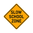 traffic sign - slow school zone - e496