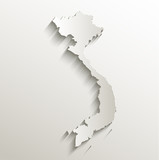 Vietnam map card paper 3D natural vector