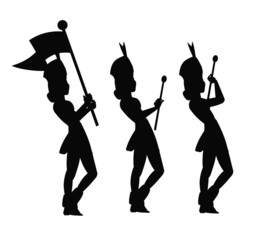 majorette silhouettes