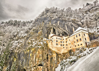 Predjama castle - Predjamski grad in winter, Slovenia