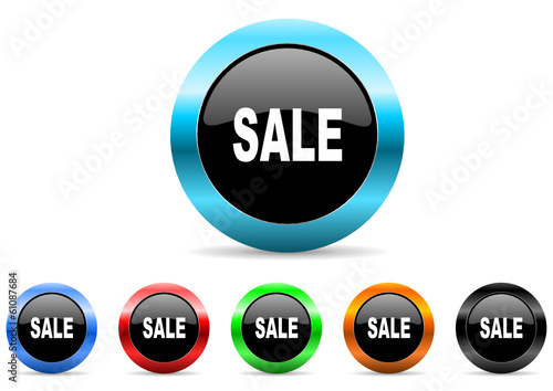 sale icon vector set