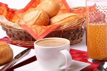 Frühstück mit Brötchen