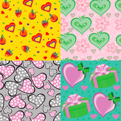 seamless backgrounds with hearts