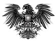 Eagle Emblem Black  and White