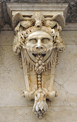 Large mask, architectural fantasy