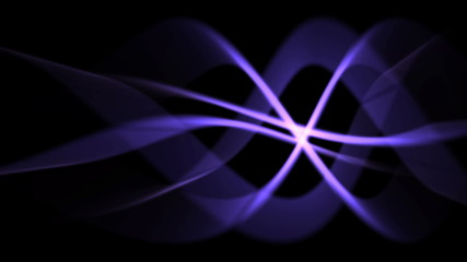 magical background of purple light curves in flowing motion