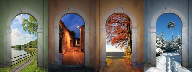 Vier Jahreszeiten -  Collage 1