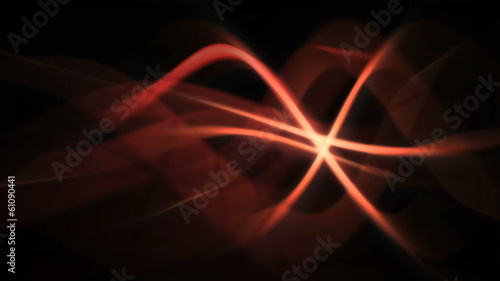 abstract fire background of red glowing curves in wavy motion