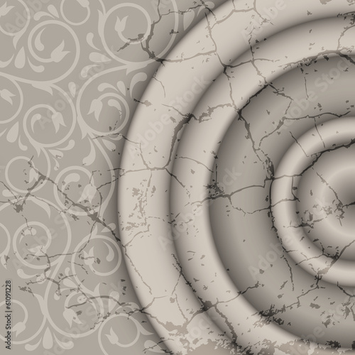 marble background with ornament