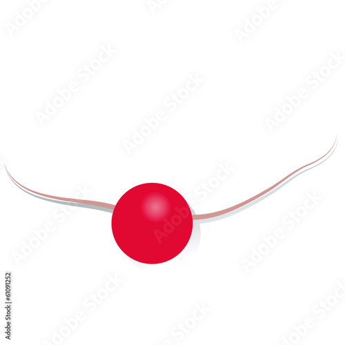 red, nose, false, nose, vector, free, isolated, charity