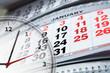 calendar and clock - 61091822