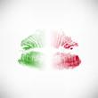 Kussmund Abdruck Italien