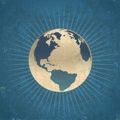 Retro Planet Earth