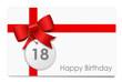 18 Jahre - Happy Birthday