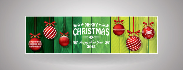Green Christmas bookmark