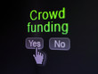 Business concept: Crowd Funding on digital computer screen