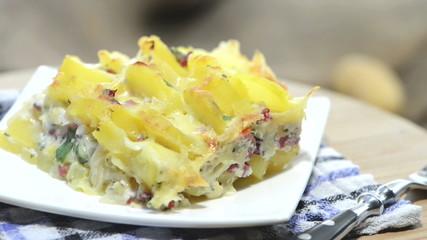 Portion of Potato Gratin (loopable)