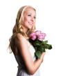 junge Frau mit Rosen